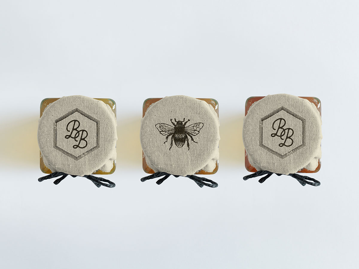 honey label design, product packaging