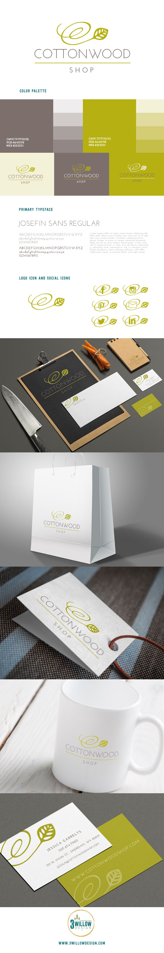 Cottonwood Shop Branding Board