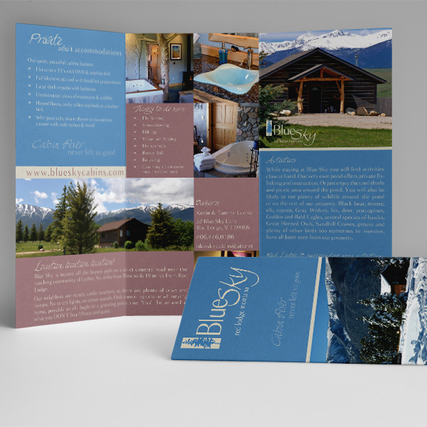 Blue Sky Cabins Trifold Brochure