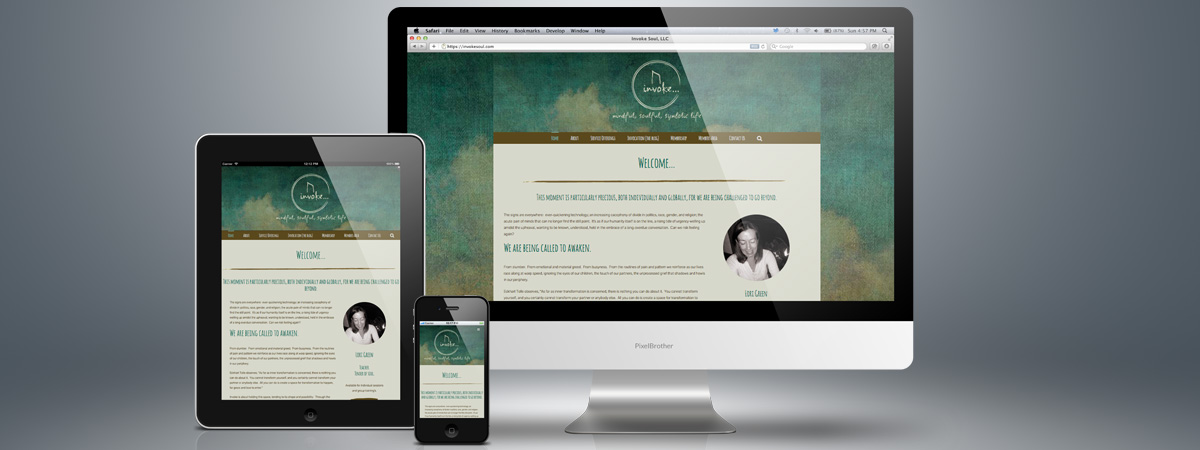 Invoke Soul Responsive website