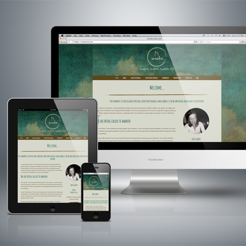Invoke Soul website design