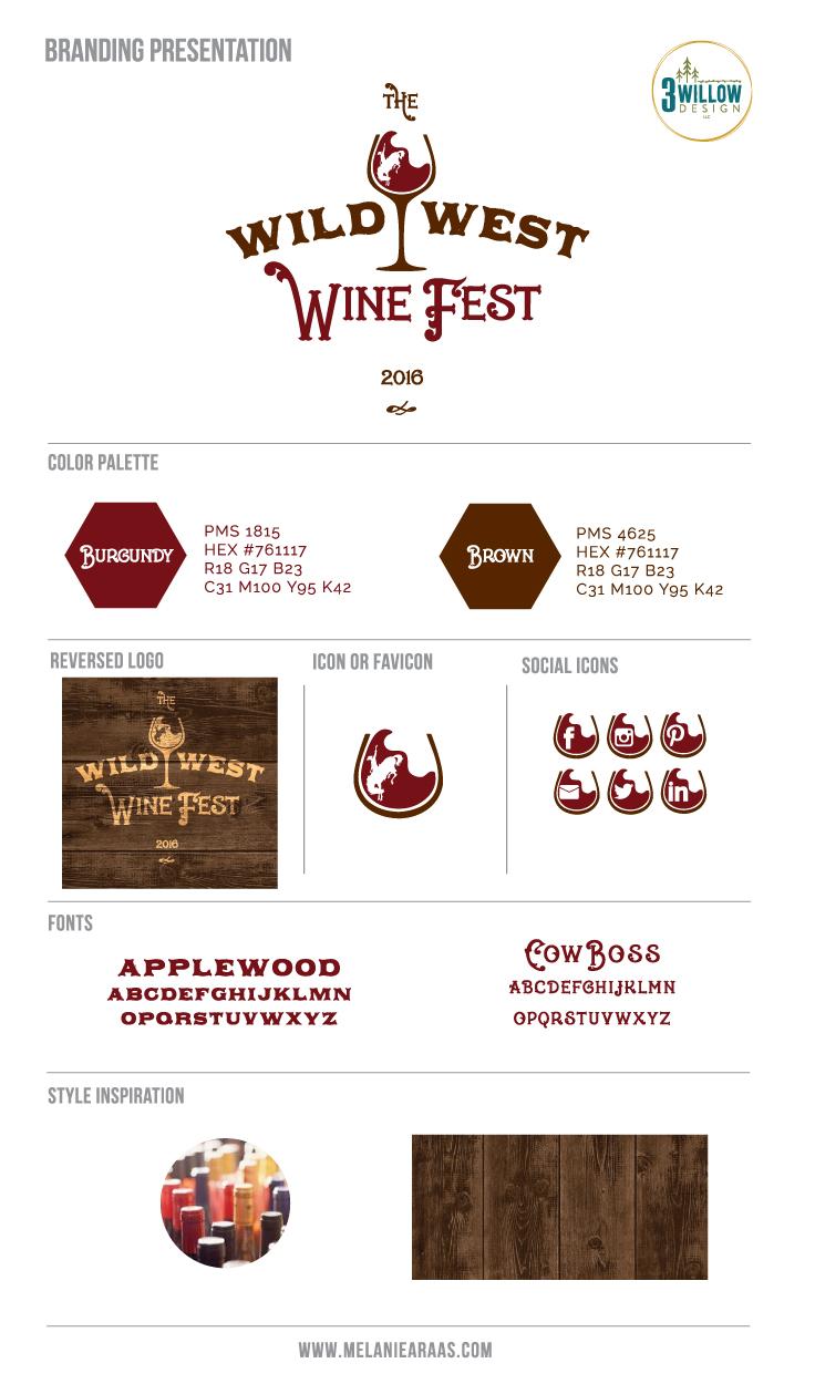 Wild West Wine Fest Branding Board