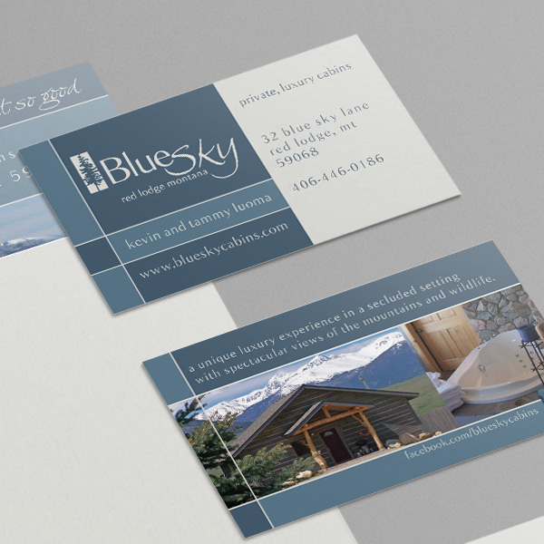 Blue Sky Cabins Business Cards