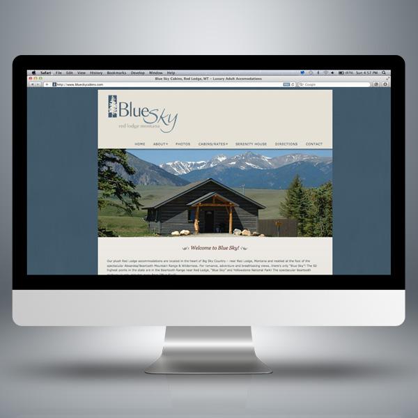 Blue Sky Cabins Website Design