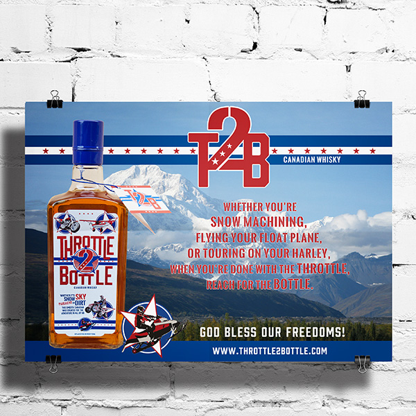 Throttle 2 Bottle advertisement