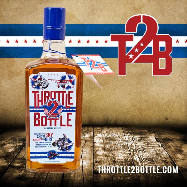 Throttle 2 Bottle front bottle design