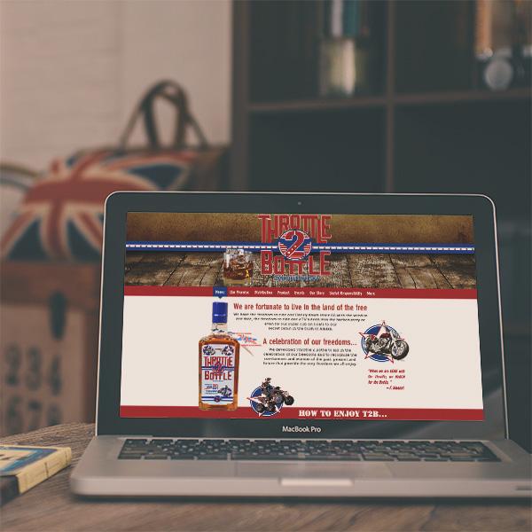 Throttle 2 Bottle website front