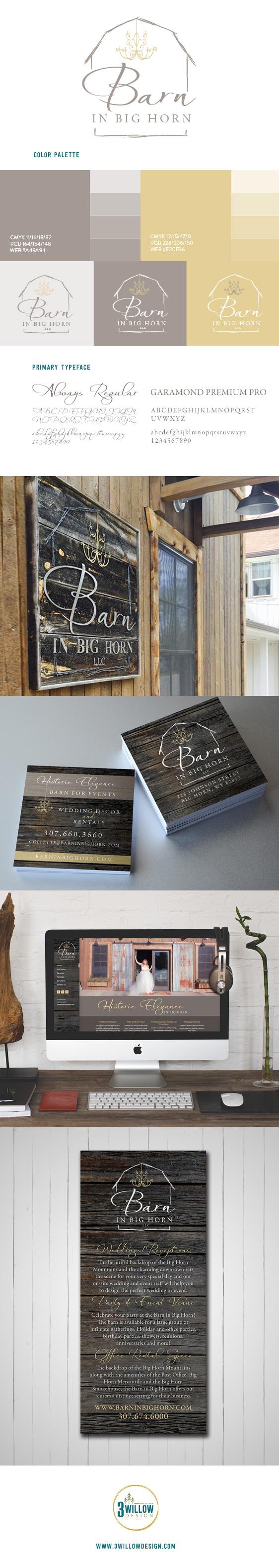 Barn in Big Horn Branding board