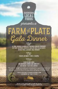 Farm to Plate Gala Dinner - Sheridan Local Foods