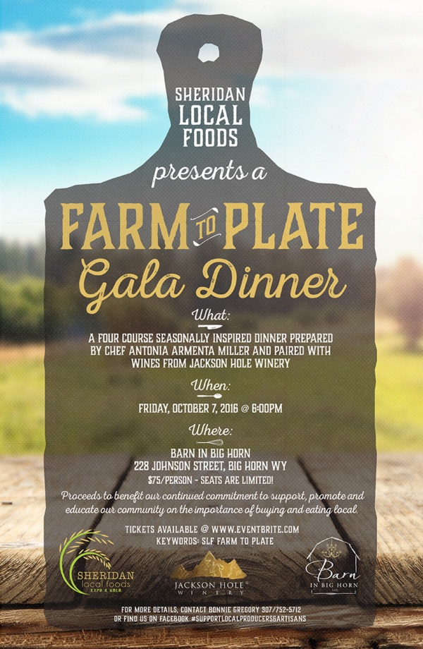 Farm to Plate Gala Dinner - Sheridan Local Foods