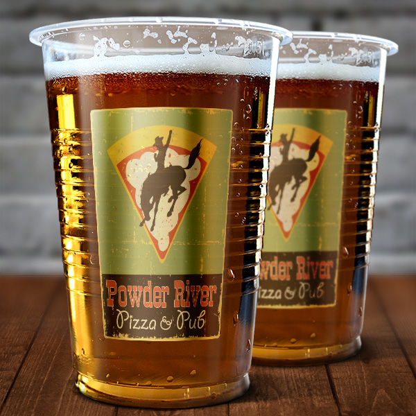 powder river pizza beer glass