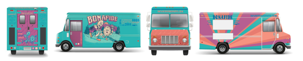 food truck graphic design and branding