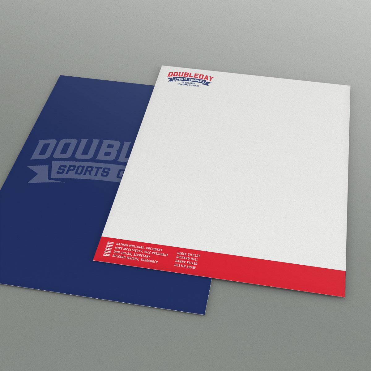 Doubleday Sports Complex Letterhead design