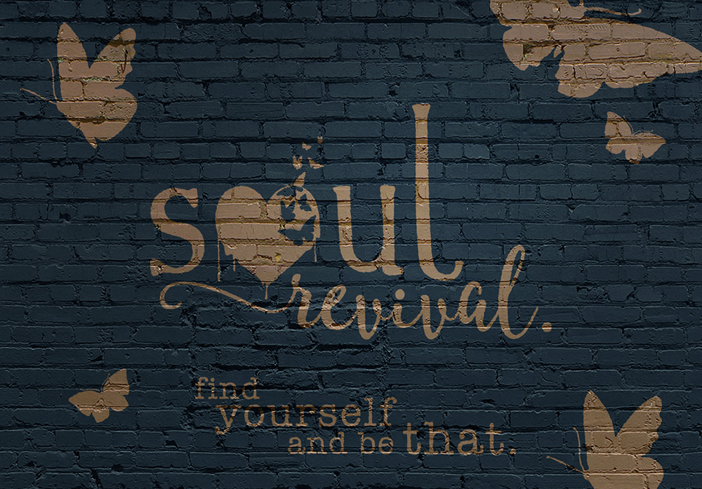 soul revival - yoga and art studio signage idea