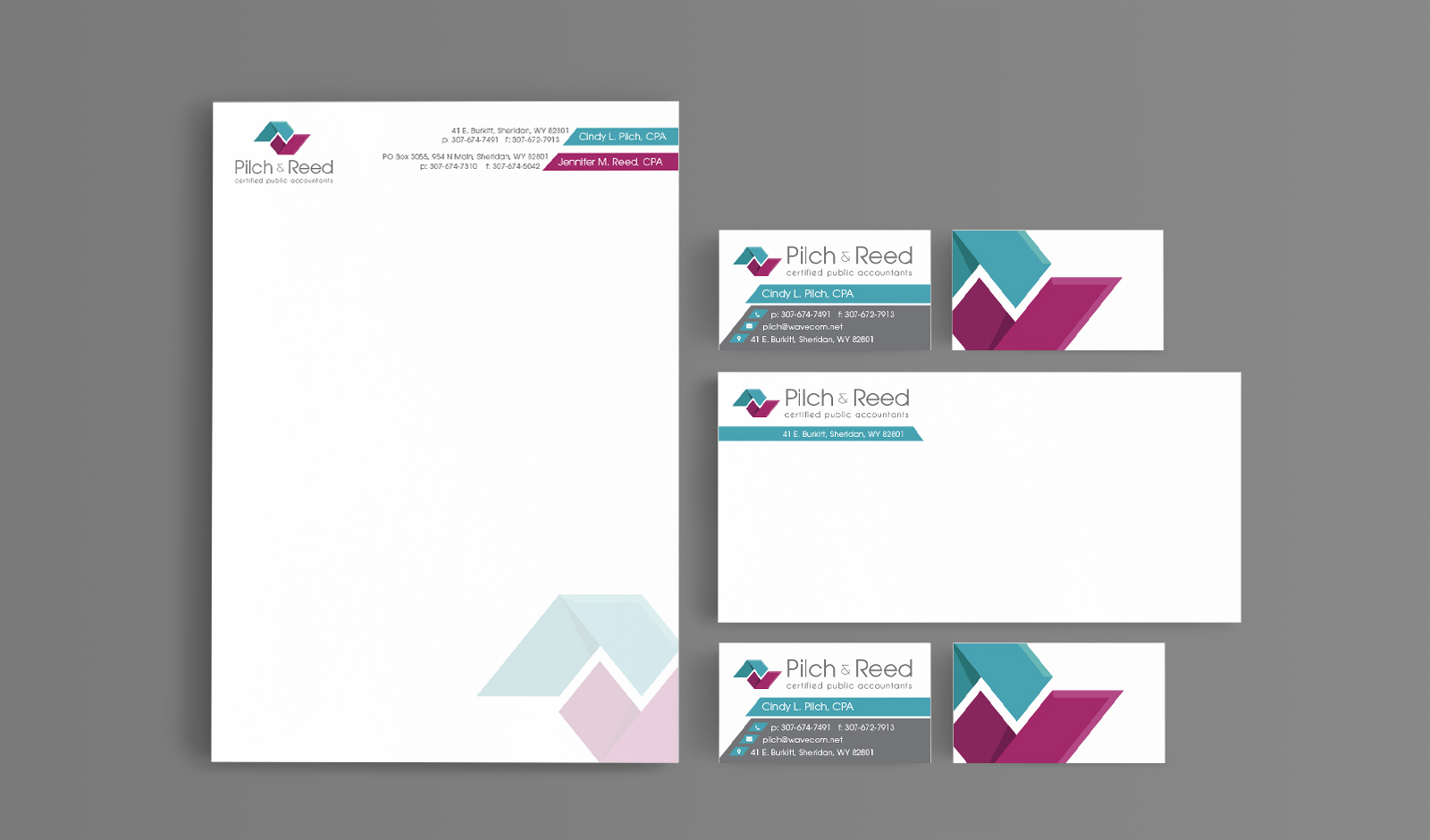 Pilch and Reed CPA stationary design