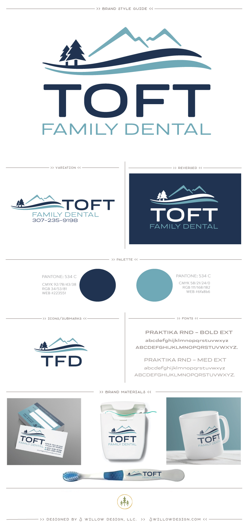 Dental Office Branding and Logo design