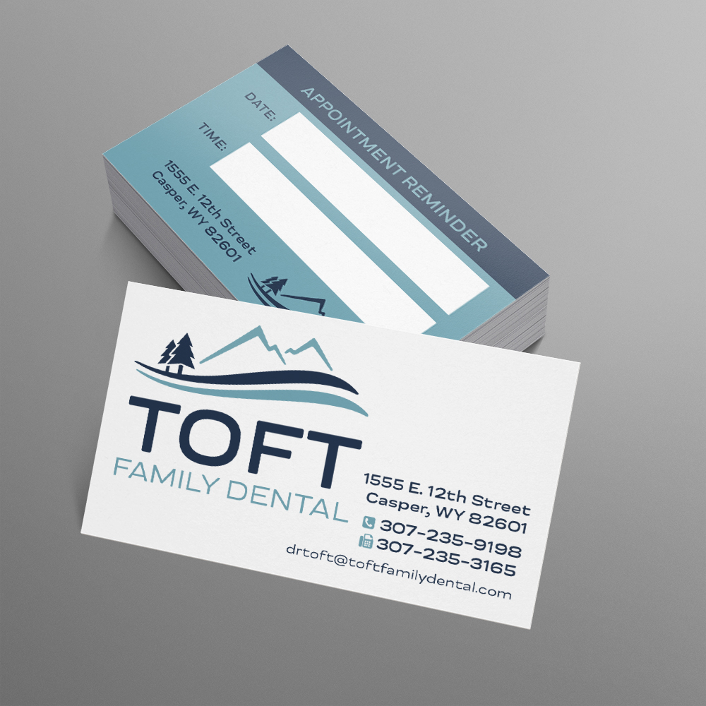 dental office business card design