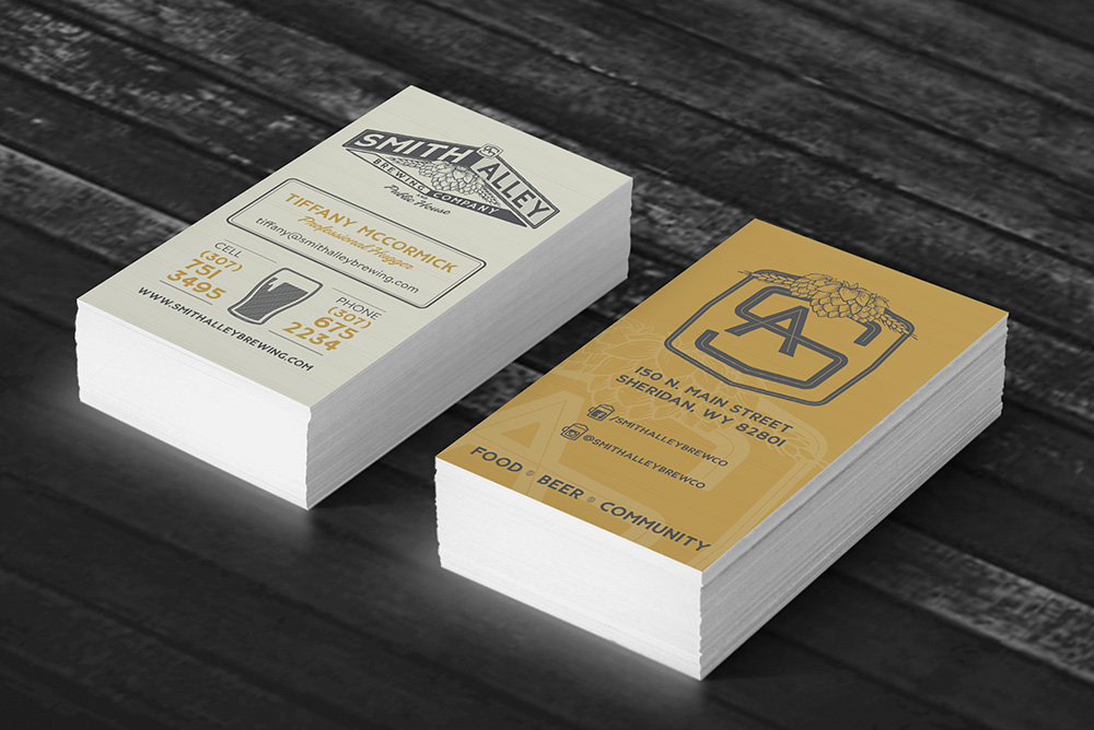 Business Cards for brewery employees