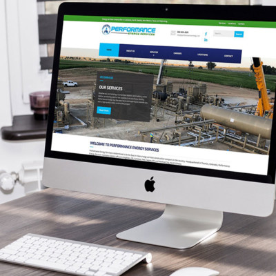 performance energy services website design