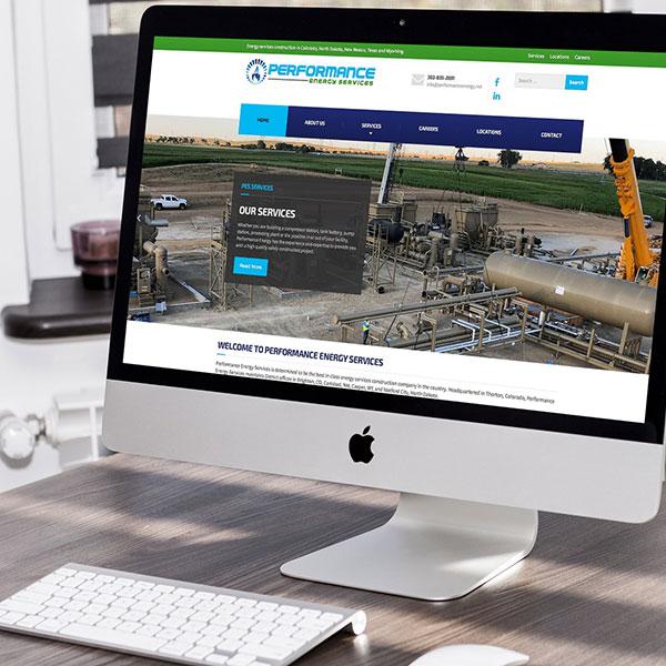 performance energy services website design