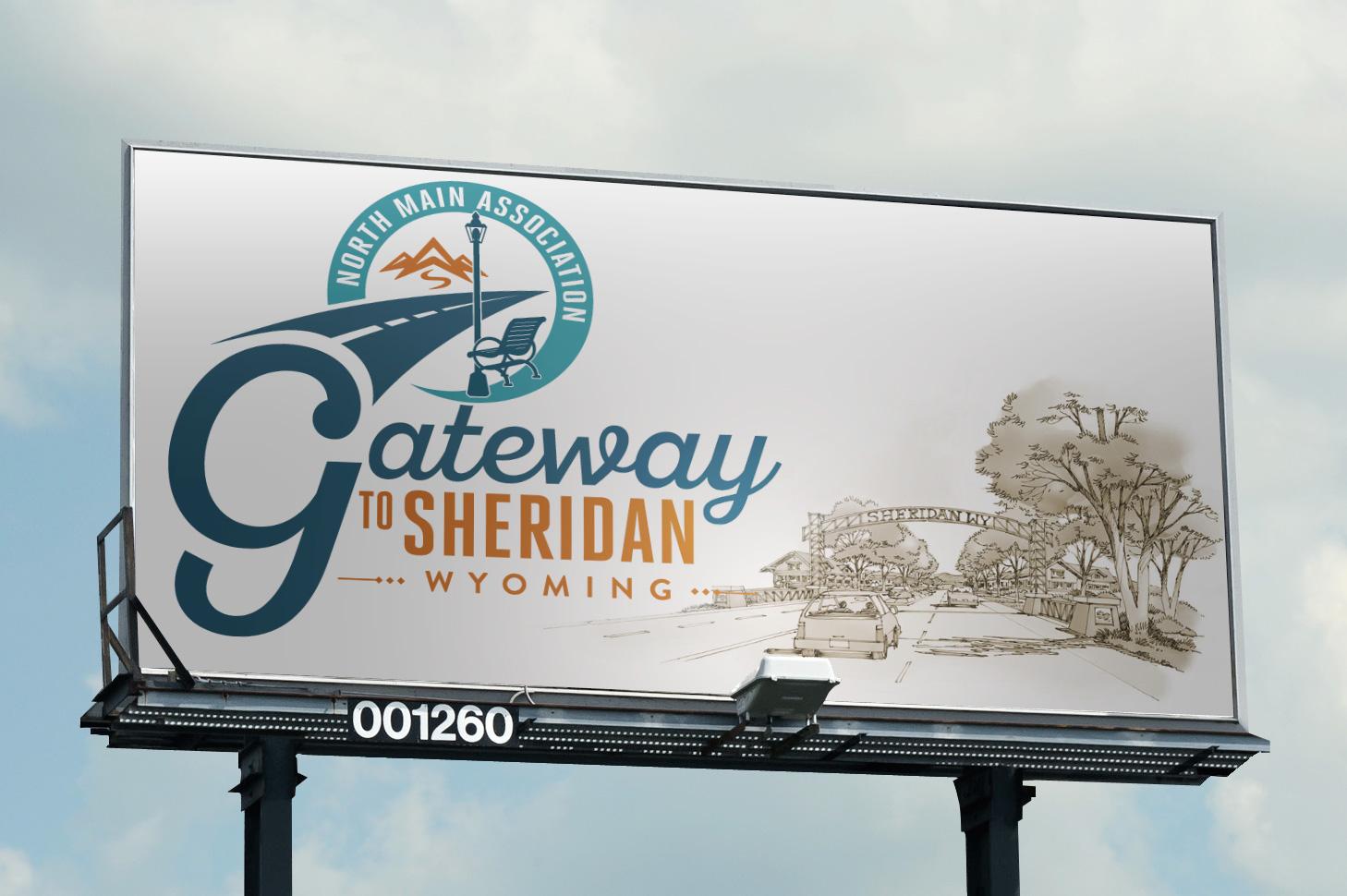 Gateway to Sheridan Wyoming logo design