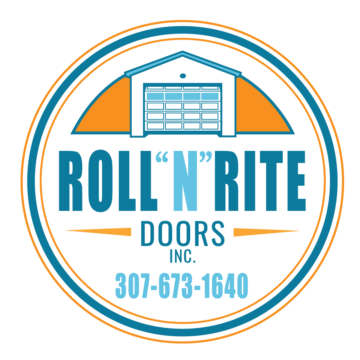 roll n rite doors logo design