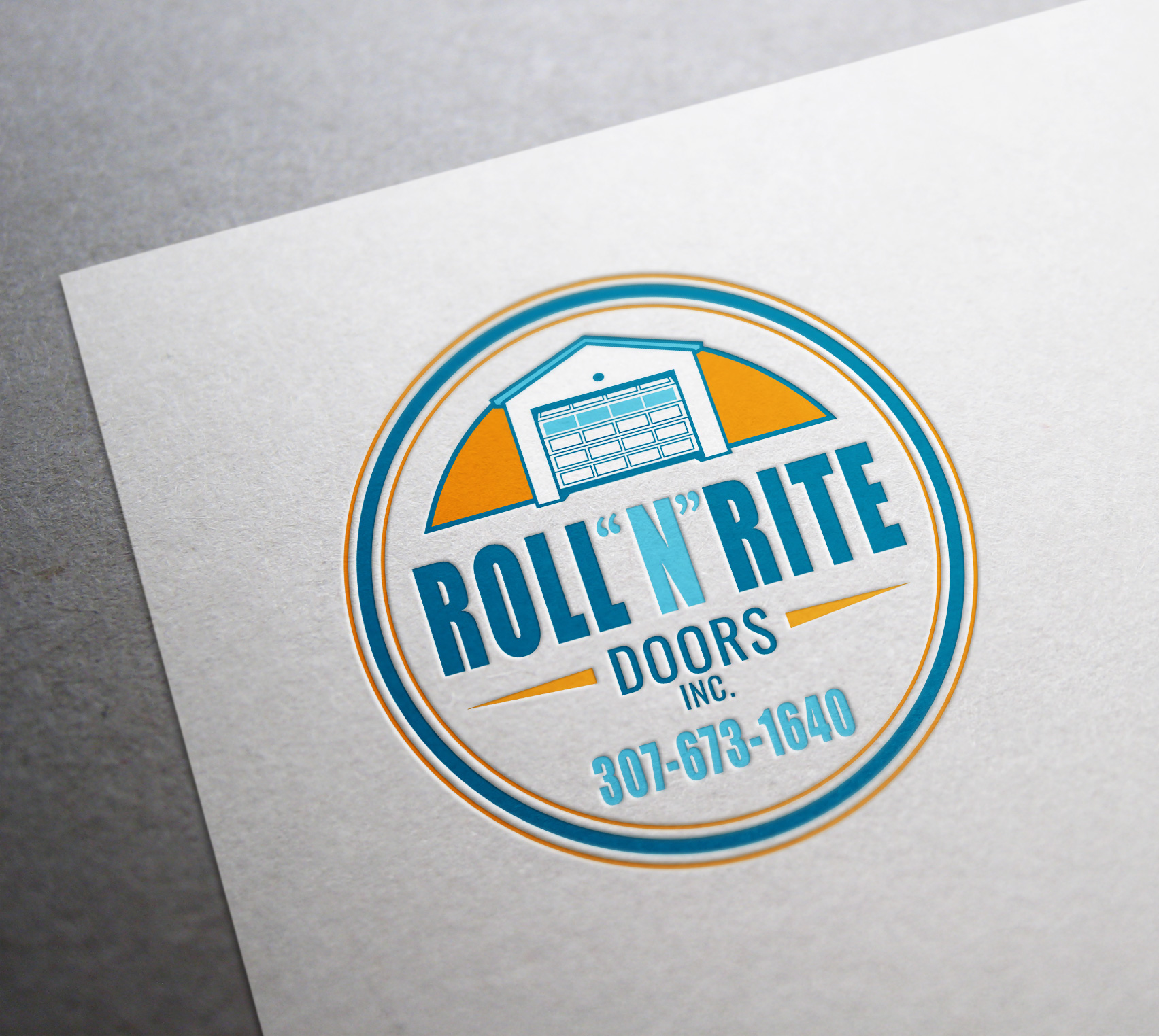 roll n rite doors logo design