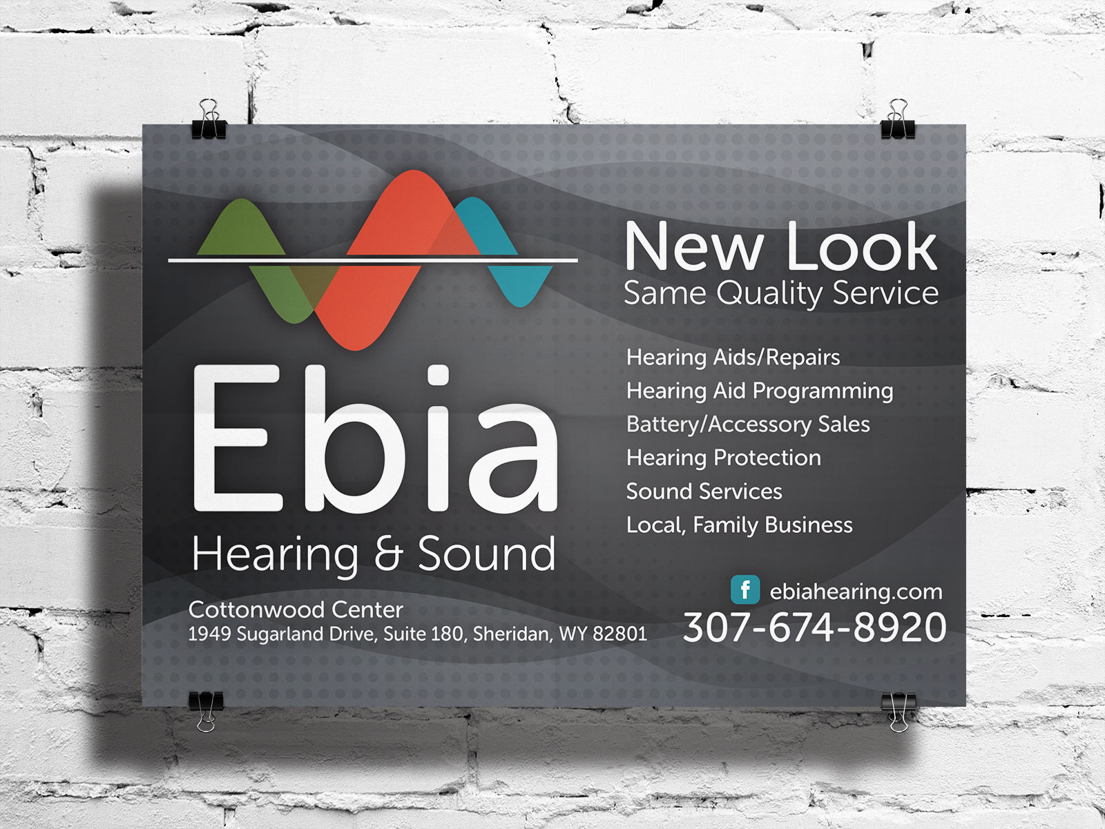 Ebia Hearing and Sound - branding and logo design
