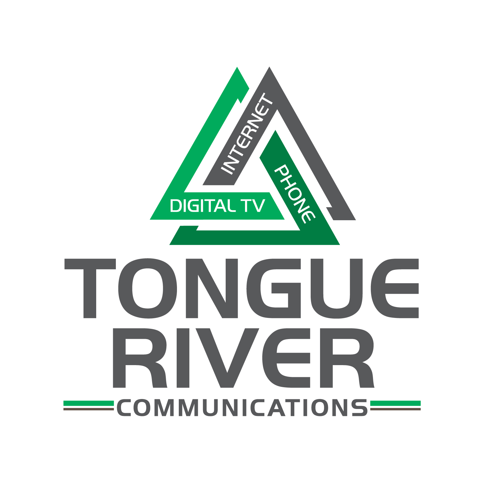 Tongue River Communications logo and website design