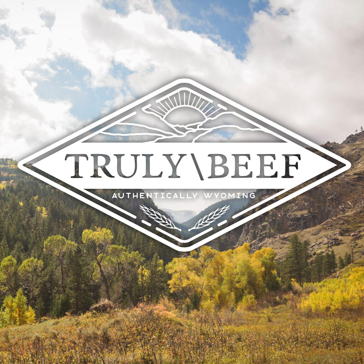 Truly Beef logo design