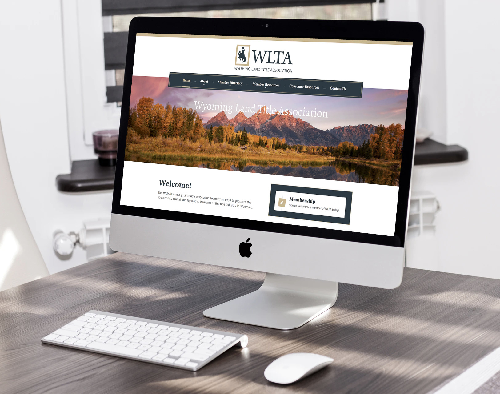 Wyoming Land Title Association website design