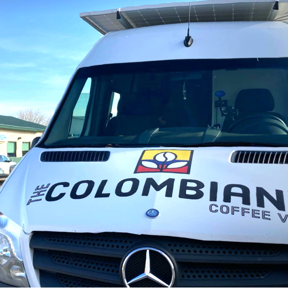 The Colombian Guy Coffee branding and truck wrap graphics
