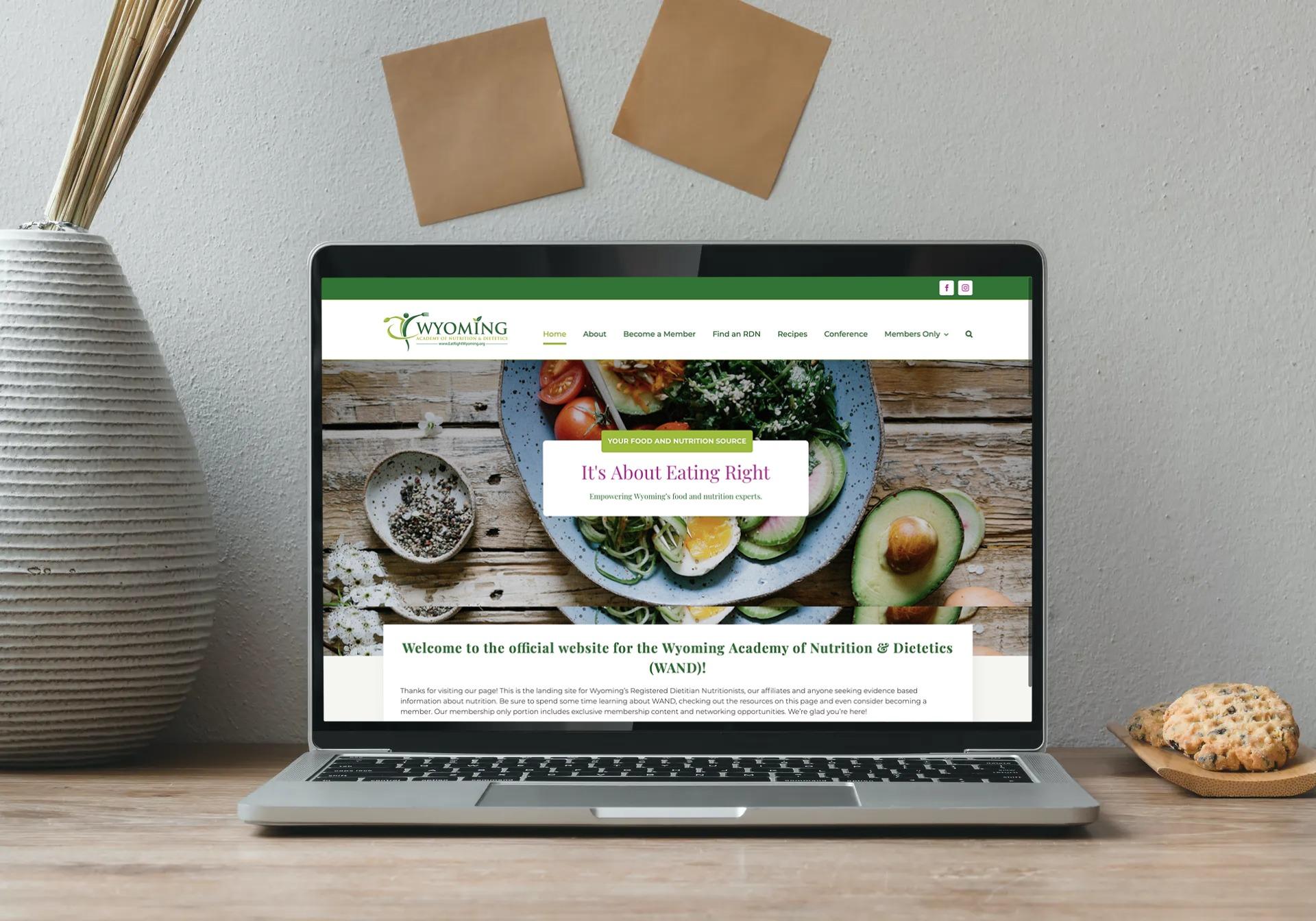 Wyoming Academy of Nutrition & Dietetics Website Design