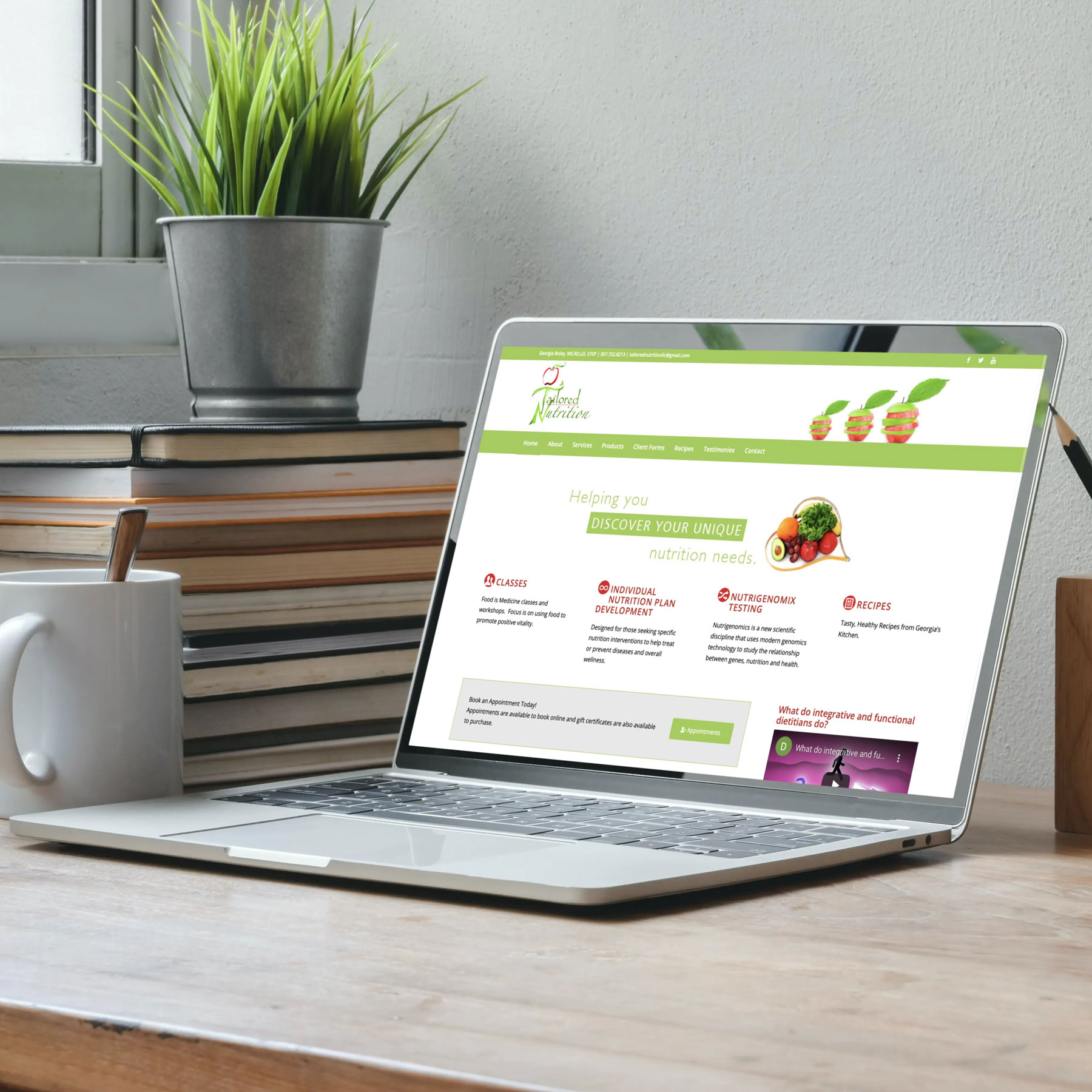 Tailored Nutrition Website Design