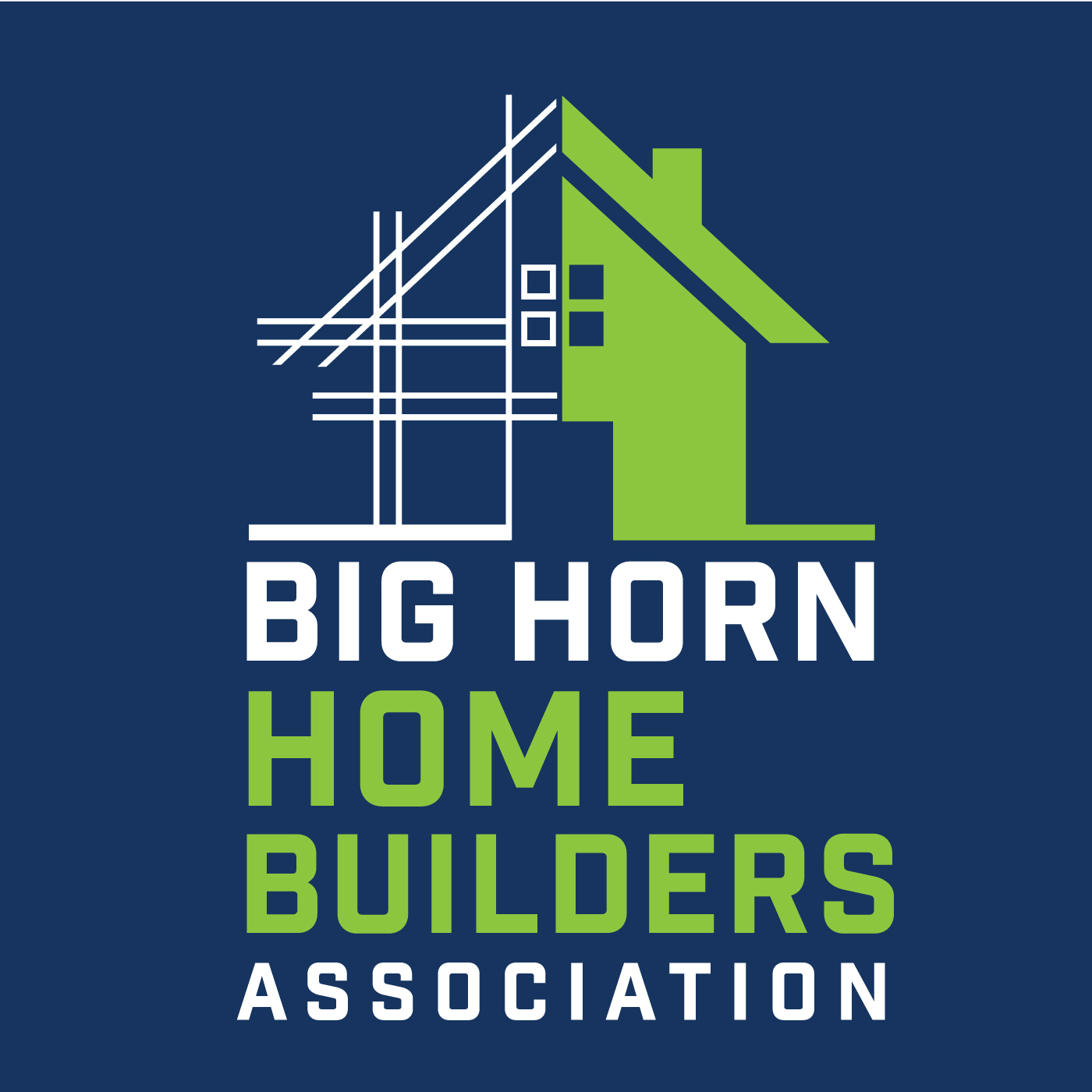 big horn homebuilders association logo and web design