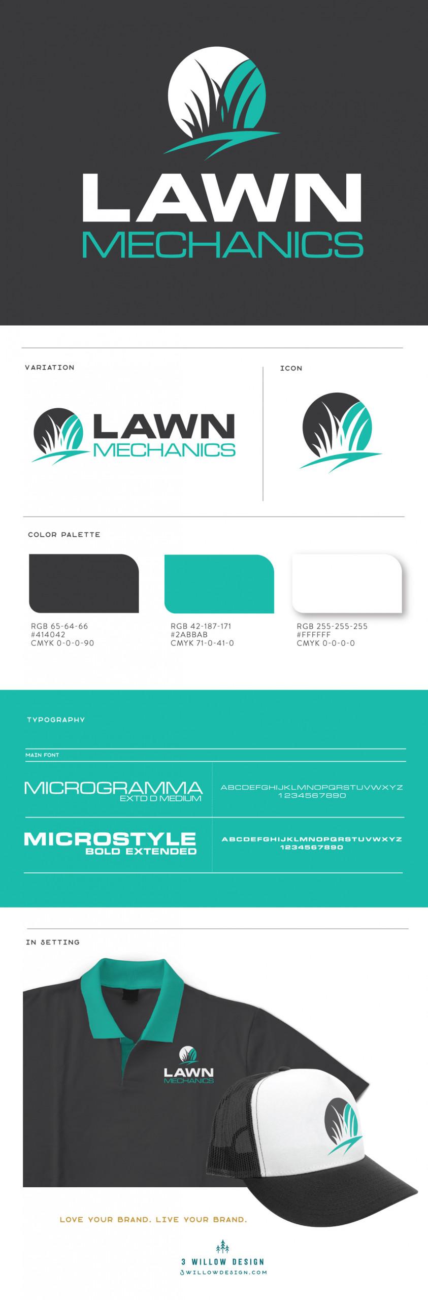 brand board for lawn care company