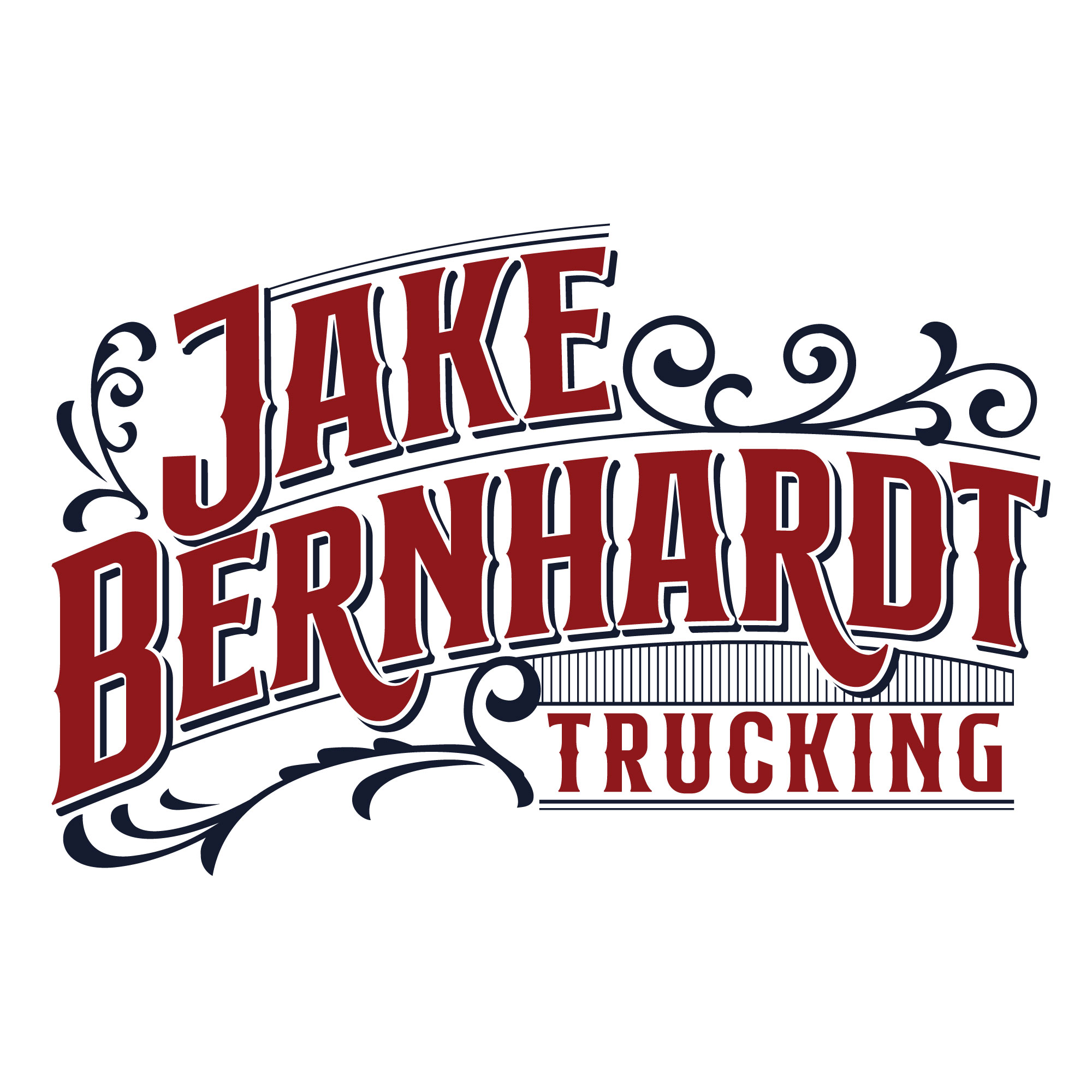 Jake Bernhardt Trucking >> logo and branding for trucking company