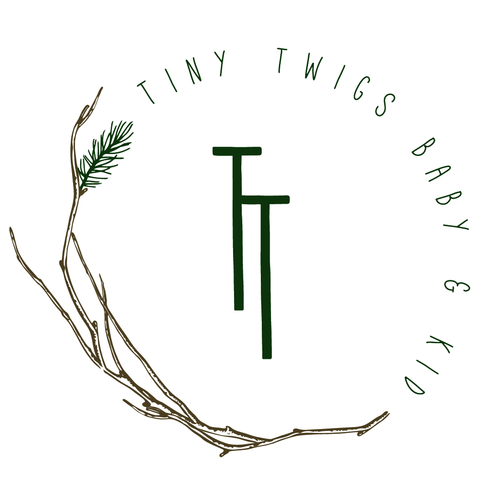 Tiny Twigs baby & kid, children's boutique logo and branding