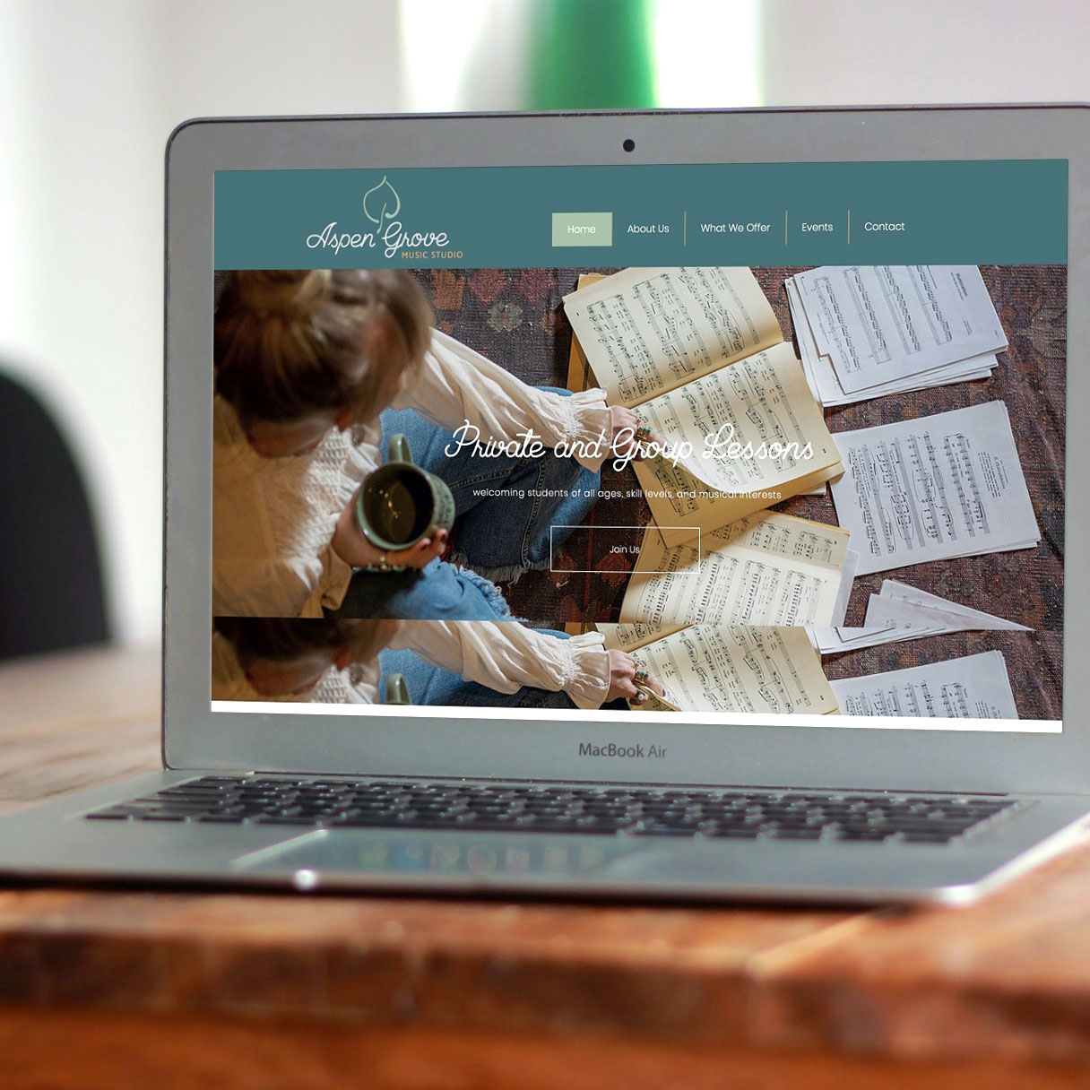 Aspen Grove Music Studio - website design