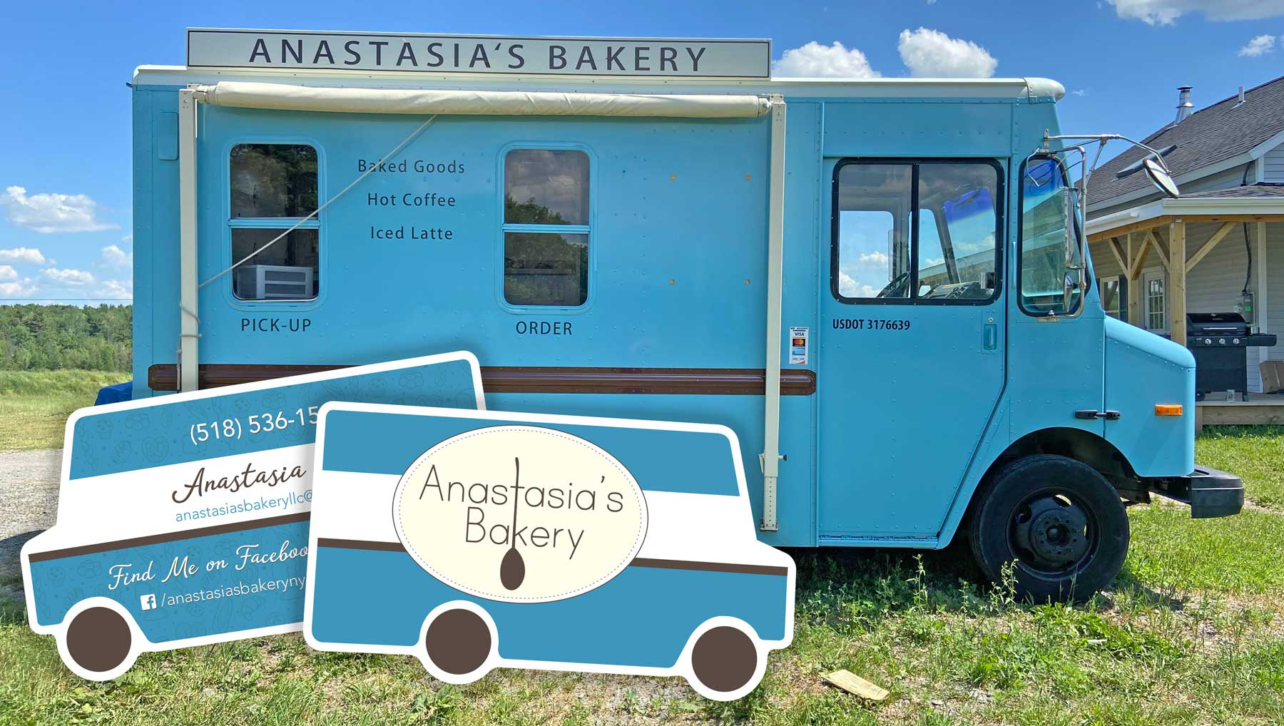 food truck shaped business cards