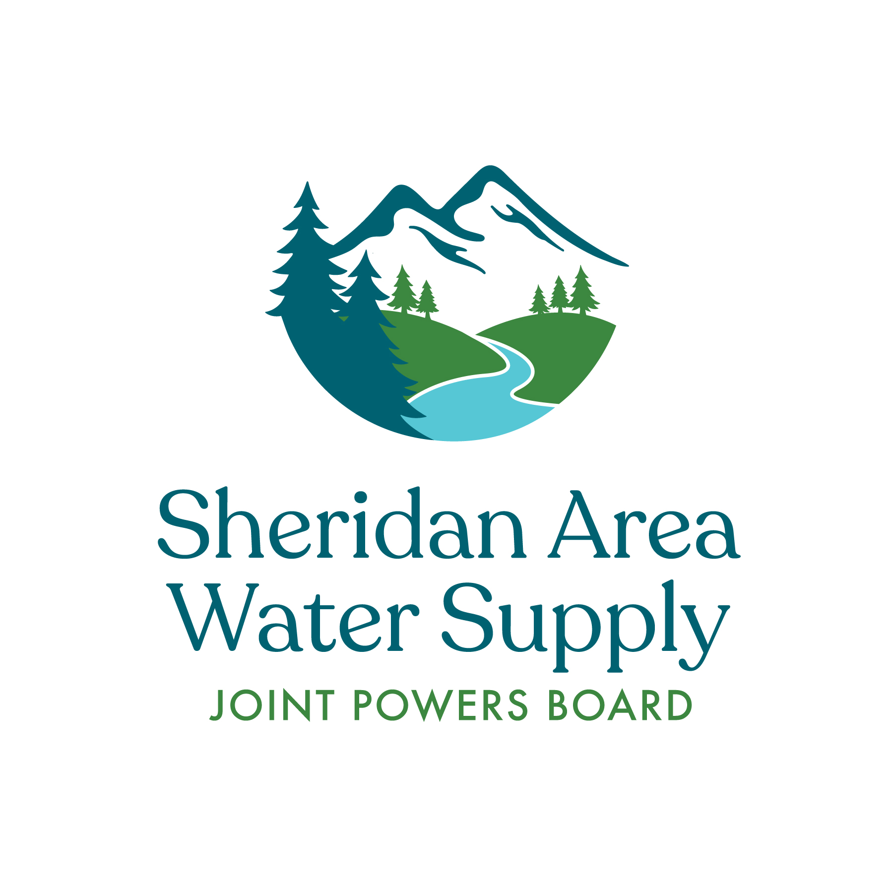 SAWS - Sheridan Area Water Supply Joint Powers Board - Logo and branding graphic design
