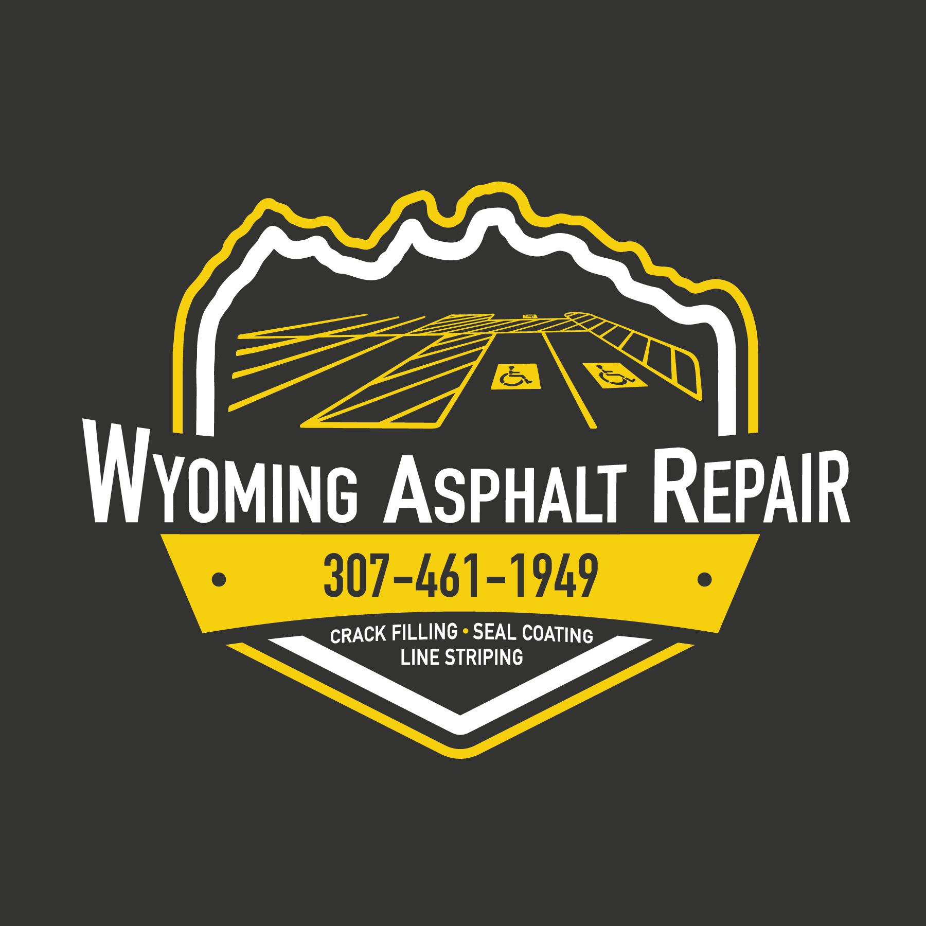 Wyoming Asphalt Repair logo graphic design