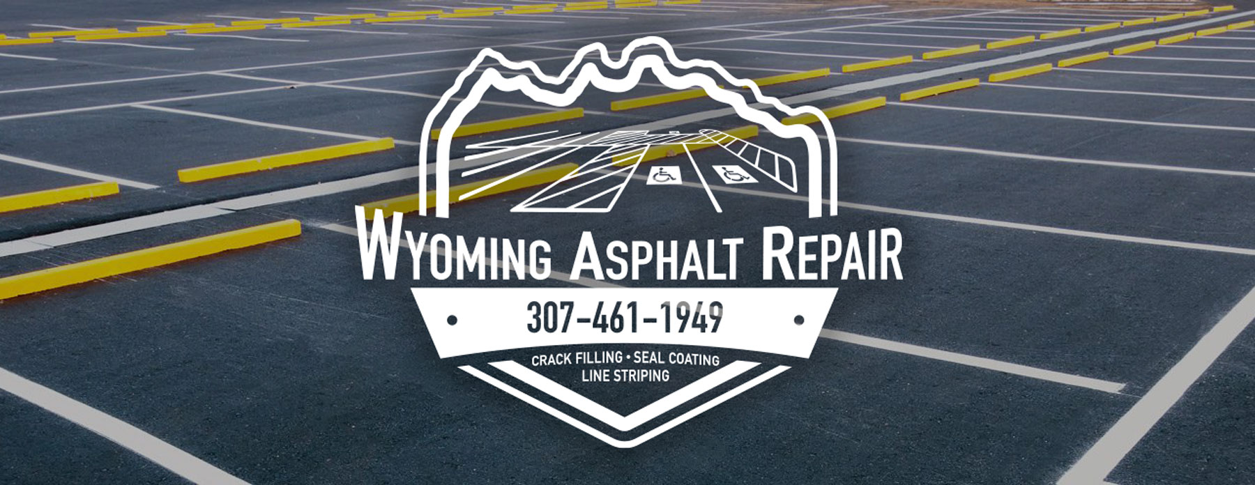 Wyoming Asphalt Repair logo graphic design